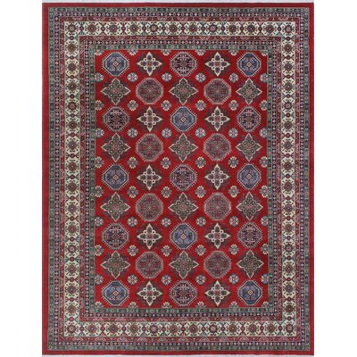 One-of-a-Kind Wendland Juan Hand-Knotted Wool Red Area Rug