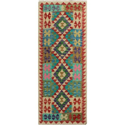 One-of-a-Kind Kratzerville Kilim Joey�Hand-Woven Wool Ivory Area Rug