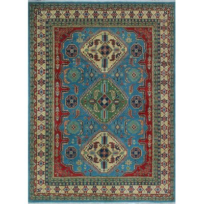 One-of-a-Kind Wendland Louis Lt. Hand-Knotted Wool Blue Area Rug