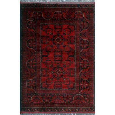One-of-a-Kind Millar Jela Hand-Knotted Wool Red Area Rug