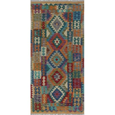 One-of-a-Kind Kratzerville Kilim Felix Hand-Woven Wool Ivory Area Rug