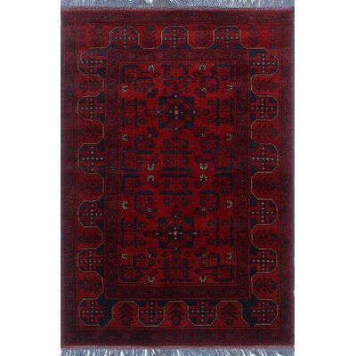 One-of-a-Kind Millar Lateef Hand-Knotted Wool Red Area Rug