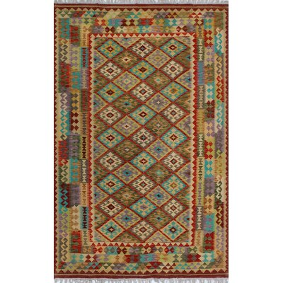 One-of-a-Kind Kratzerville Kilim Teddy�Hand-Woven Wool Red Area Rug