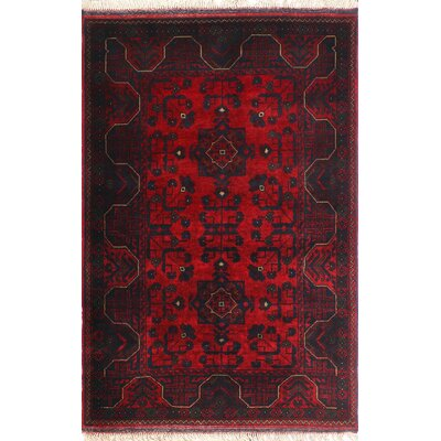 One-of-a-Kind Millar Neema Hand-Knotted Wool Red Area Rug