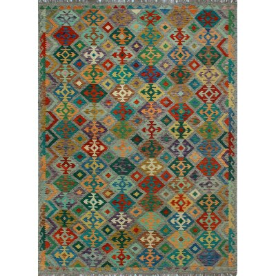 One-of-a-Kind Kratzerville Kilim Amelia�Hand-Woven Wool Brown Area Rug
