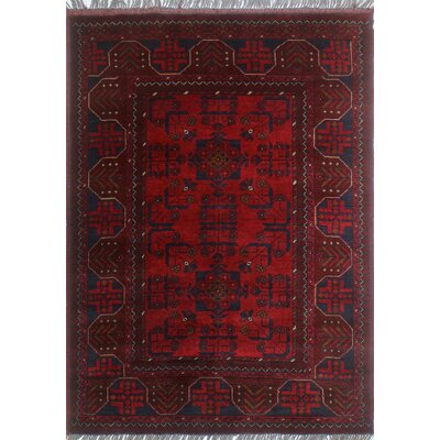 One-of-a-Kind Millar Wekesa Hand-Knotted Wool Red Area Rug