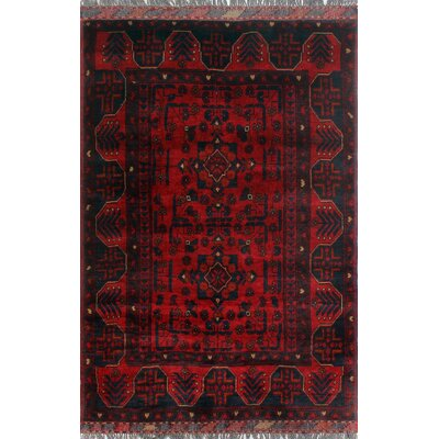 One-of-a-Kind Millar Olumiji Hand-Knotted Wool Red Area Rug