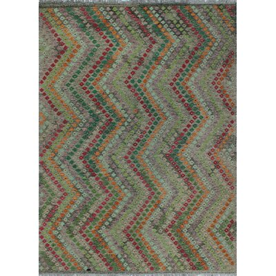 One-of-a-Kind Kratzerville Kilim Isla�Hand-Woven Wool Brown Area Rug