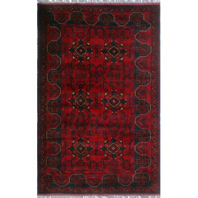 One-of-a-Kind Millar Afua Hand-Knotted Wool Red Area Rug