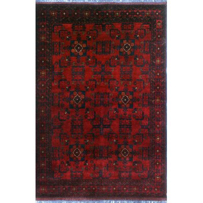 One-of-a-Kind Millar Hondo Hand-Knotted Wool Red Area Rug
