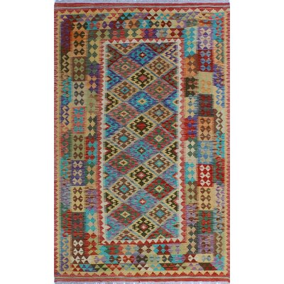 One-of-a-Kind Kratzerville Kilim Elliott Hand-Woven Wool Gold Area Rug