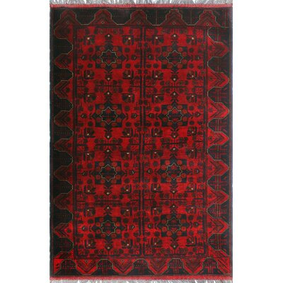 One-of-a-Kind Millar Saada Hand-Knotted Wool Red Area Rug