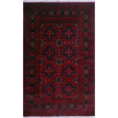 One-of-a-Kind Millar Baderinwa Hand-Knotted Wool Red Area Rug
