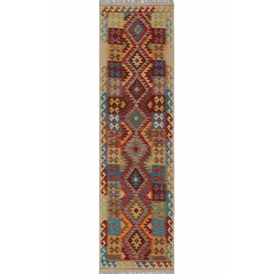 One-of-a-Kind Kratzerville Kilim Dexter�Hand-Woven Wool Red Area Rug