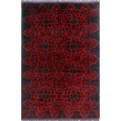 One-of-a-Kind Millar Olujimi Hand-Knotted Wool Red Area Rug