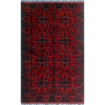 One-of-a-Kind Millar Sulaiman Hand-Knotted Wool Red Area Rug