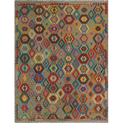One-of-a-Kind Kratzerville Kilim Isabella Hand-Woven Wool Brown Area Rug