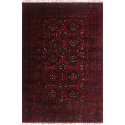One-of-a-Kind Millar Japera Hand-Knotted Wool Red Area Rug