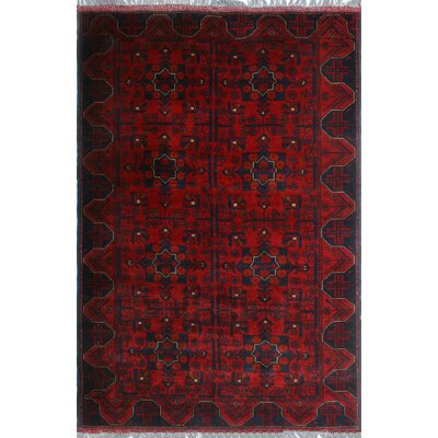 One-of-a-Kind Millar Kontar Hand-Knotted Wool Red Area Rug