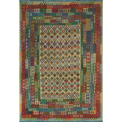 One-of-a-Kind Kratzerville Kilim Liam�Hand-Woven Wool Ivory Area Rug