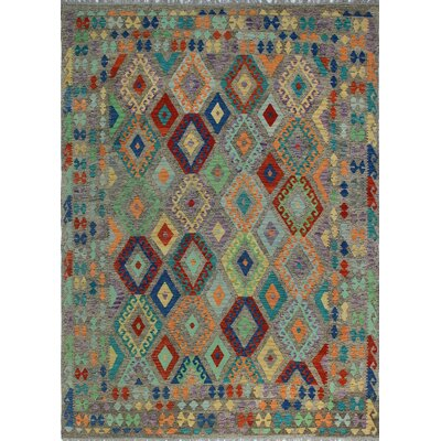 One-of-a-Kind Kratzerville Kilim Sophie�Hand-Woven Wool Brown Area Rug