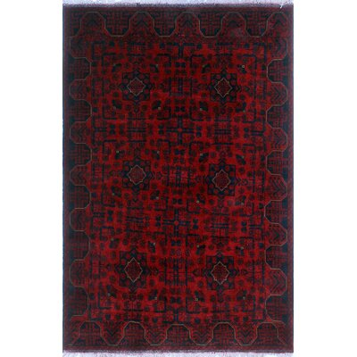 One-of-a-Kind Millar Mandala Hand-Knotted Wool Red Area Rug