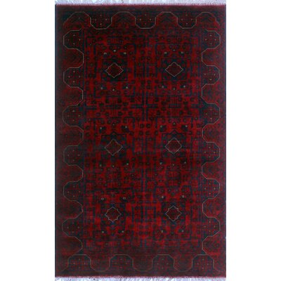One-of-a-Kind Millar Abimbola Hand-Knotted Wool Red Area Rug