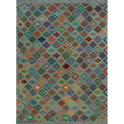 One-of-a-Kind Kratzerville Kilim Grace�Hand-Woven Wool Brown Area Rug