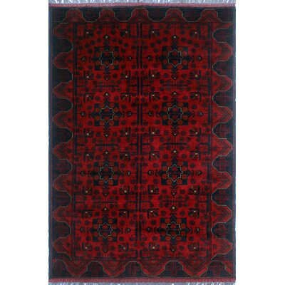 One-of-a-Kind Millar Chaonaine Hand-Knotted Wool Red Area Rug