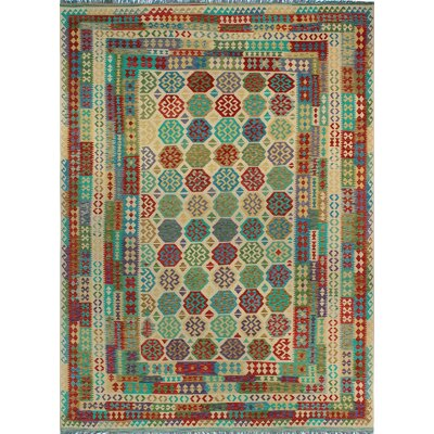 One-of-a-Kind Kratzerville Kilim Gabriel Hand-Woven Wool Ivory Area Rug