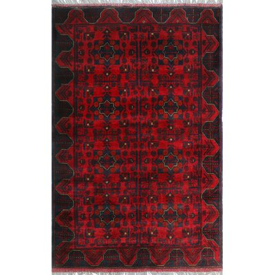 One-of-a-Kind Millar Munyiga Hand-Knotted Wool Red Area Rug