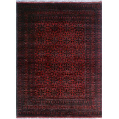 One-of-a-Kind Millar Adisa Hand-Knotted Wool Red Area Rug