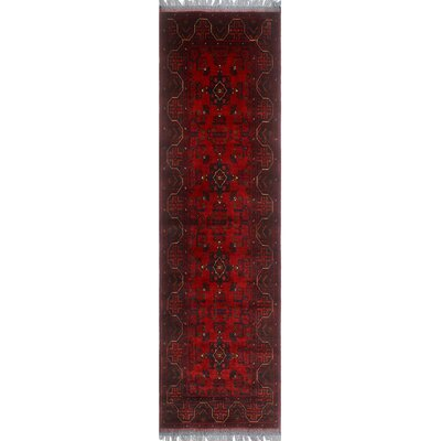 One-of-a-Kind Millar Adika Hand-Knotted Wool Red Area Rug