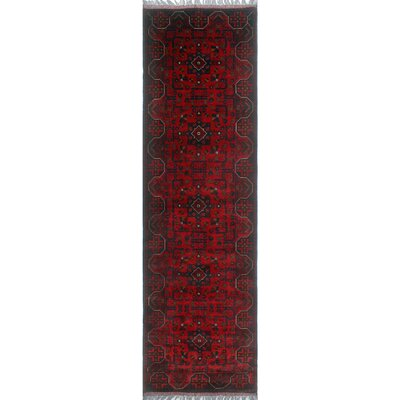 One-of-a-Kind Millar Haji Hand-Knotted Wool Red Area Rug