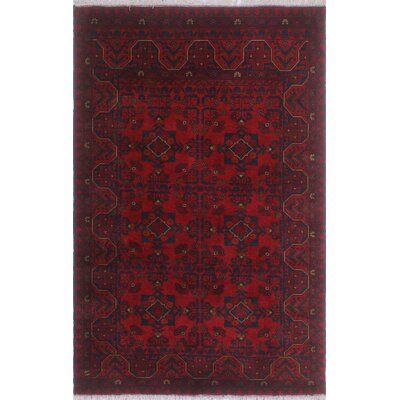One-of-a-Kind Millar Abena Hand-Knotted Wool Red Area Rug