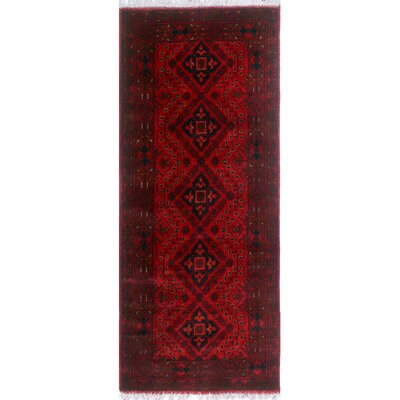 One-of-a-Kind Millar Tau Hand-Knotted Wool Red Area Rug