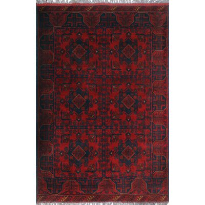 One-of-a-Kind Millar Taliba Hand-Knotted Wool Red Area Rug