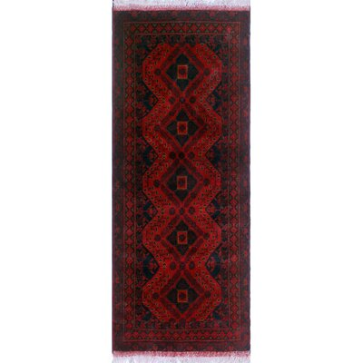 One-of-a-Kind Millar Adio Hand-Knotted Wool Red Area Rug
