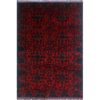 One-of-a-Kind Millar Sibongile Hand-Knotted Wool Red Area Rug