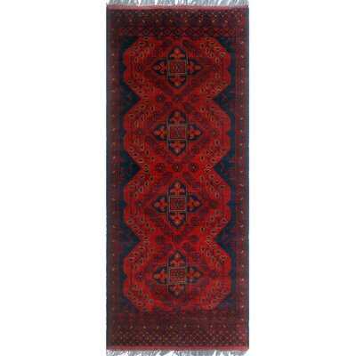 One-of-a-Kind Millar Omolara Hand-Knotted Wool Red Area Rug