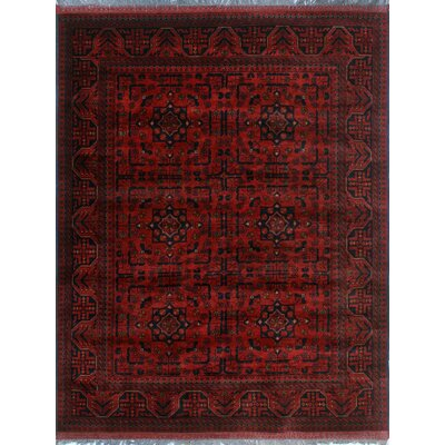 One-of-a-Kind Millar Walidah Hand-Knotted Wool Red Area Rug