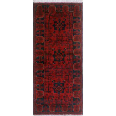 One-of-a-Kind Millar Bakari Hand-Knotted Wool Red Area Rug