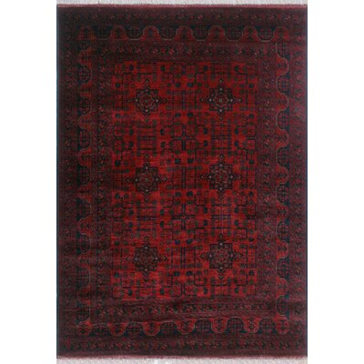 One-of-a-Kind Millar Walid Hand-Knotted Wool Red Area Rug