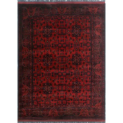 One-of-a-Kind Millar Apara Hand-Knotted Wool Red Area Rug