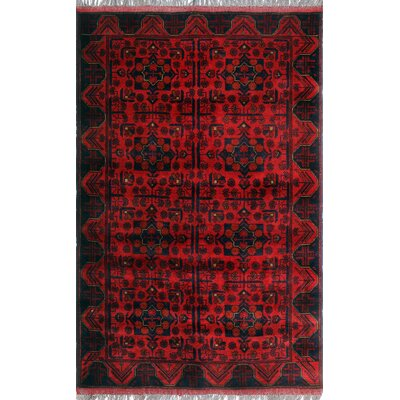 One-of-a-Kind Millar Kereenyaga Hand-Knotted Wool Red Area Rug