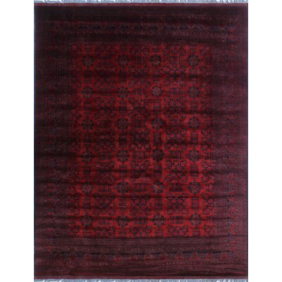 One-of-a-Kind Millar Mawusi Hand-Knotted Wool Red Area Rug