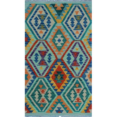 One-of-a-Kind Kratzerville Kilim Lucian Hand-Woven Wool Ivory Area Rug
