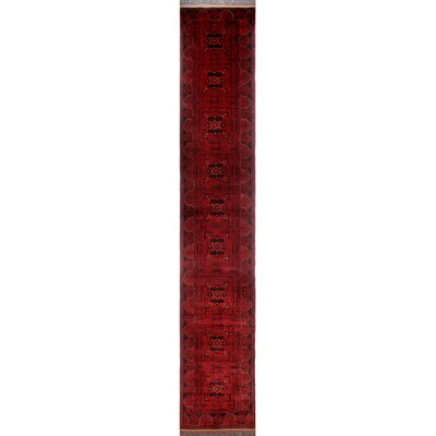 One-of-a-Kind Millar Jafari Hand-Knotted Wool Red Area Rug