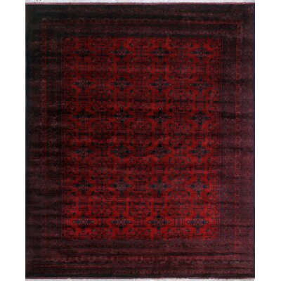 One-of-a-Kind Millar Ayoola Hand-Knotted Wool Red Area Rug