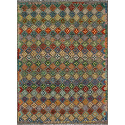 One-of-a-Kind Kratzerville Kilim Evie�Hand-Woven Wool Brown Area Rug